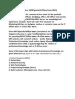 IT Officer Exam Syllabus