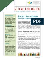 Bulletin PEPS Aude en Bref Nouvelle Mouture 1er Trimestre 2014
