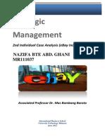eBay Inc Strategic Management