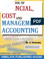 Cover Table of Contents a Textbook of Financial Cost Management Accounting Revised Edition