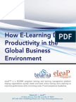 How E-Learning Drives Employee Productivity in the Global Business Environment