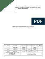 Especificaciones de Aislamiento