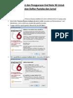 Tutorial Instalasi Dan Penggunaan End Note X6 Untuk Pembuatan Daftar Pustaka Dan Journal