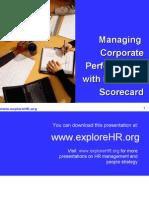 Balanced Scorecard PPT