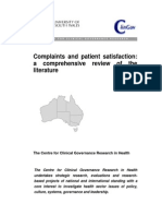 Literature Review Patient Satisfaction and Complaints