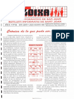 LLOIXA. Número 84, julio-agosto/juliol-agost, 1991. Butlletí Informatiu de Sant Joan. Boletín informativo de Sant Joan.  Autor