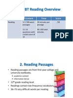 Overview TOEFL iBT Reading