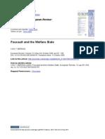 Foucault and Welfare State