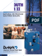 Dunkirk Plymouth Steam II PSB-3D, Electronic Ignition Gas Fired Boiler Brochure