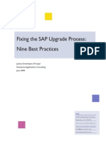 Fixing the SAP Upgrade Process Nine Best Practices