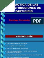 Construcción del participio latino