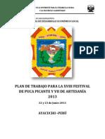 Plan de Trabajo Festival Gastronomico y Artesania (1)