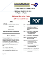 3.19.2014--Crime Prevention Agenda
