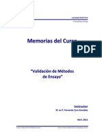 Memorias Curso Validación