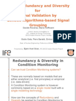 Model Redundancy and Diversity for Signal Validation by Genetic Algorithms-Based