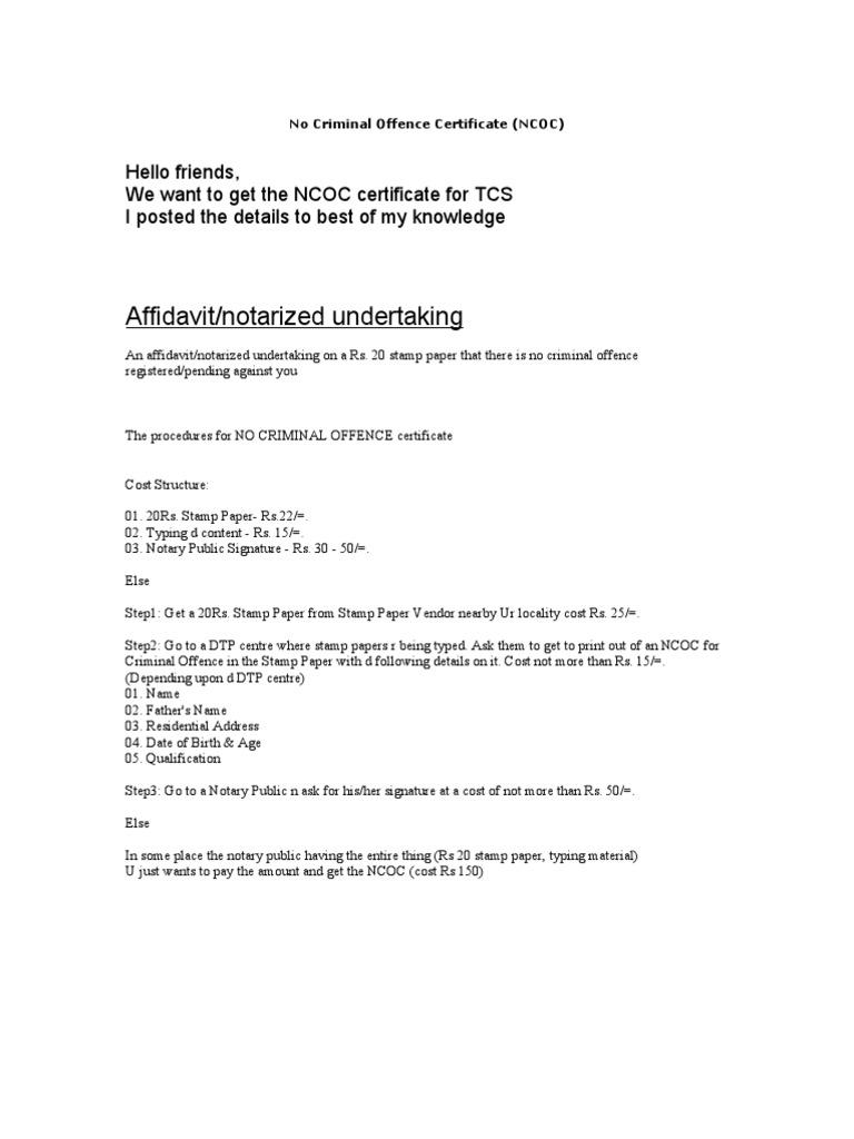 No criminal offence certificate altavistaventures Images