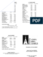 Fiscal Report to Parish Oct 2009