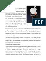 Leadership skills of Steve Jobs