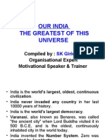Our India the Greatest of This Universe