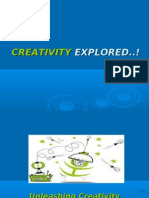 Creativity at Work Place Ppt