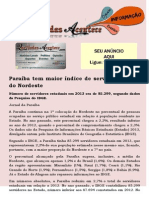 Paraíba tem maior índice de servidor público do Nordeste