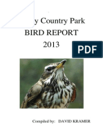 Priory Bird Report 2013 - Compiled by David Kramer