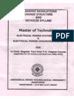 m.tech Eps Syllabus Book