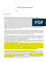 Bautismo Carta Agentes Pastoral