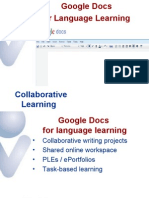 Google Docs and Wikis for Language Learning