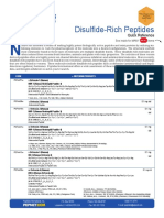 Disulfide-Rich Peptides Product Brochure