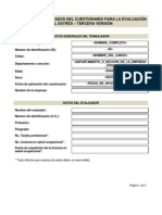 Formato informe individual estrés