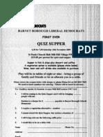 Quiz Supper Flyer