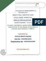 ethics of advertisement