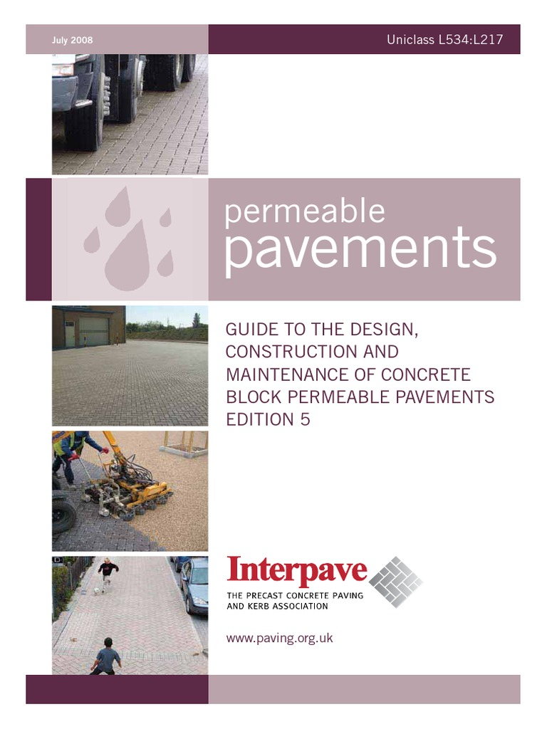 Permeable Pavement Design Road Surface Surface Runoff