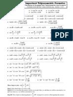 Fsc Trigonometric Formulas