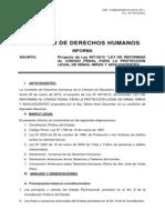 Informe y Las Modificaciones Del Codigo Penal 27abril2010
