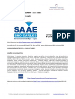 Informática de Concursos - SAEE São Carlos VUNESP nível MÉDIO www.informaticadeconcursos.com.br