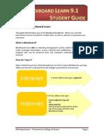 01 Blackboard Learn 9 - Student Guide (PDF)