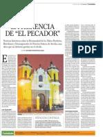 """La Herencia de """"El Pecador"""". Noticias históricas de la hermandad de Niños perdidos, huérfanos y desamparados de Lima"""