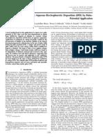 Bubble-Free Aqueous Electrophoretic Deposition (EPD) by Pulse-Potential Application