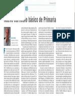 14.03 Antonio Bolívar. Nuevo Currículo Básico de Primaria. Escuela