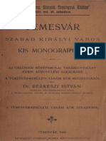 Dr. Berkeszi istván - Temesvár szabad királyi város kis monográphiája