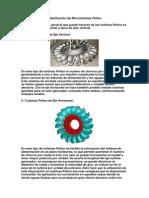 Clasificación de Microturbinas Pelton