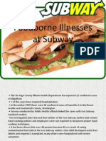 Foodborne Illnesses at Subway