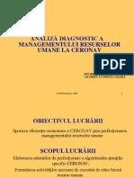 ANALIZA RESURSE UMANE 2009