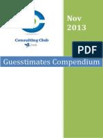 Guesstimate Compendium