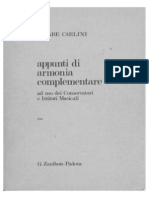 Carlini Appunti di Armonia Complementare