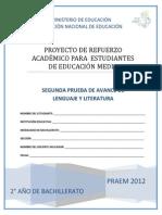 Segunda Prueba de Avance - Lenguaje y Literatura - Segundo Ao de Bachillerato Praem 2012