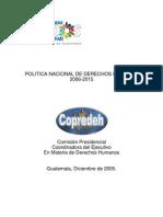 Política Derechos Humanos 2006-2015