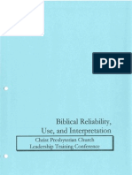 A Primer on  Biblical Reliability
